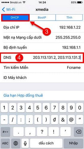 doi dns cho iphone ipad 3