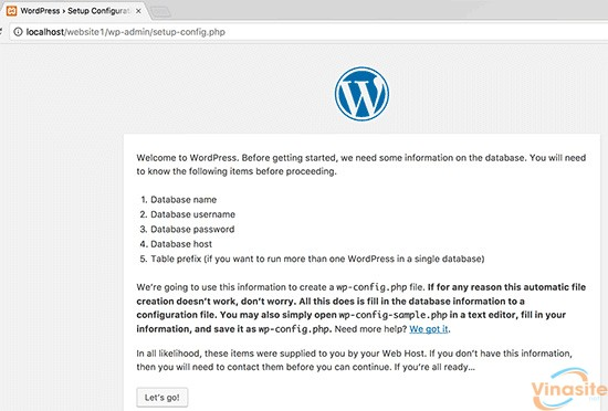 cai dat wordpress