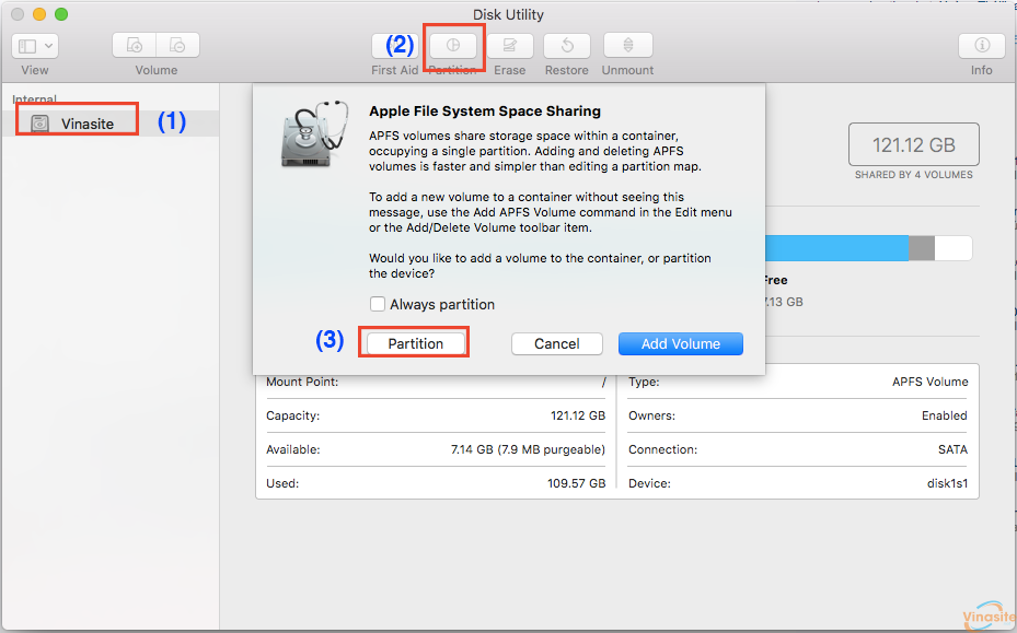Cách chia và gộp ổ cứng trong Mac OS