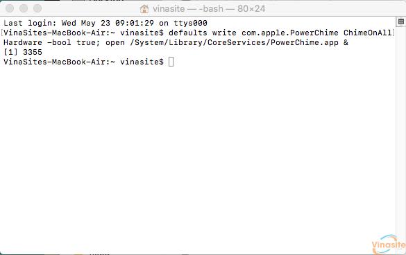 Bật âm báo khi cắm sạc cho Macbook