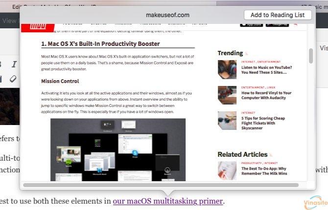 Link Look Up Mac