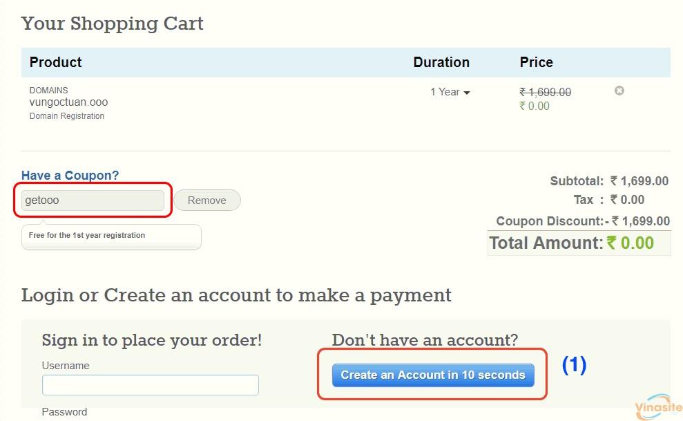Hướng dẫn đăng ký Domain .ooo miễn phí