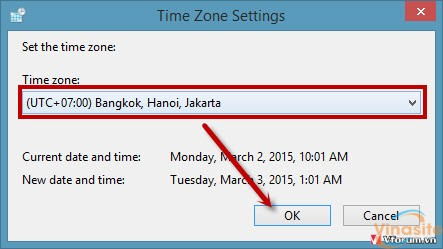 Cách thay đổi, chỉnh thời gian máy tính