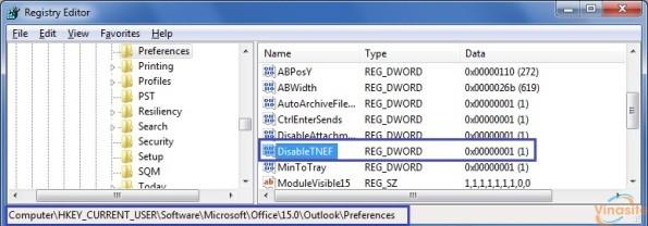 Xử lý lỗi đính kèm file Winmail.dat trong Outlook 2007, 2010, 2013, 2016