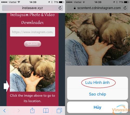 Hướng dẫn cách tải ảnh trên Instagram về máy điện thoại