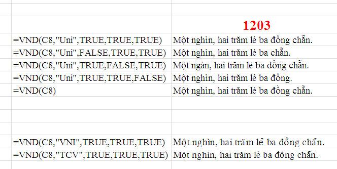 Dùng hàm để chuyển số tiền thành chữ trong Excel