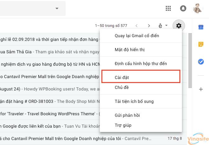 Tạo chữ ký Gmail