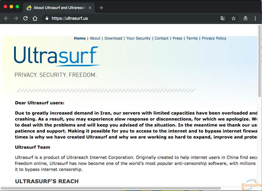 Hướng dẫn sử dụng phần mềm fake IP Ultrasurf