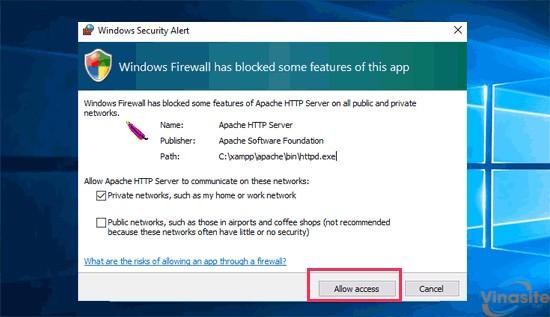 allow access Xampp