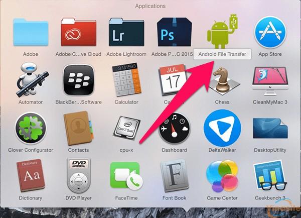 cach ket noi dien thoai android voi macbook imac 15
