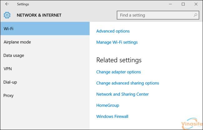 manage wifi setting