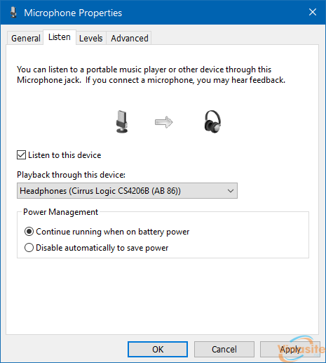 use speaker and headphone at the same time in Windows 10 step6