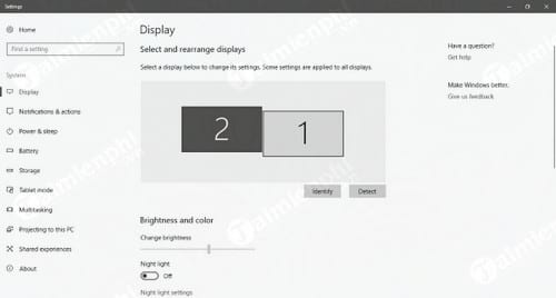 cach thiet lap dual monitor tren windows 10 1