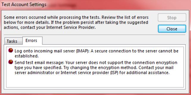 Lỗi khi Send/Receive