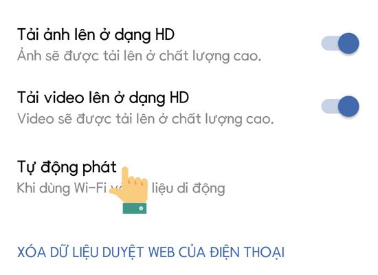 tat tu dong phat video facebook 5 1