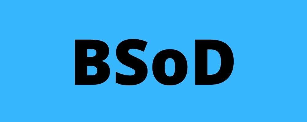 BSoD banner