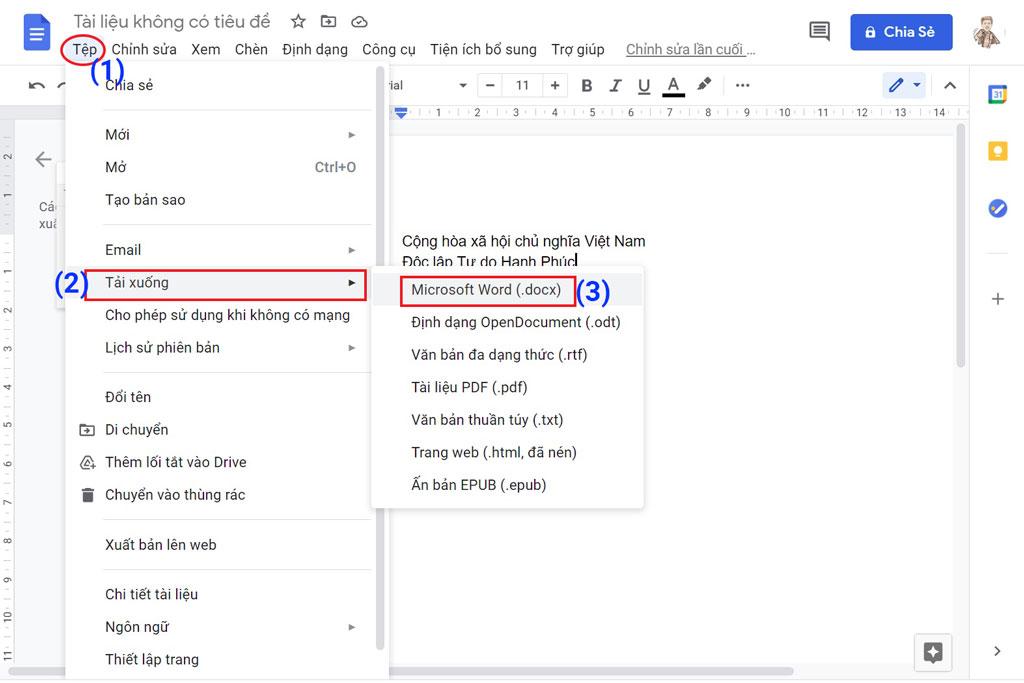 Cách soạn văn bản bằng giọng nói